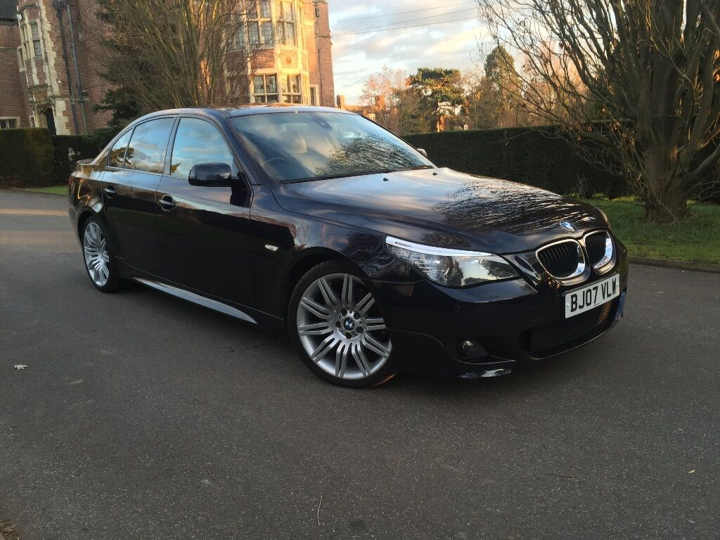 bmw 530d m sport lci facelift 2007 e60 e61 automatic carbon black high spec service history in. Black Bedroom Furniture Sets. Home Design Ideas