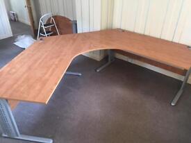 12ft wooden office desk