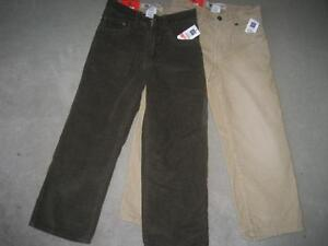 BRAND NEW -  2 PAIRS GAP CORDUROY PANTS - SIZE 6