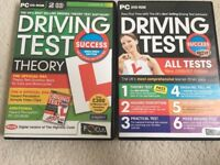 Driving test (theory) and (all tests)