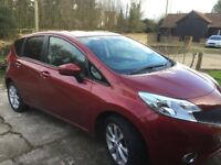 Nissan Note Acenta Premium DIG-S CVR (automatic) , very low mileage, immaculate, 1 previous owner