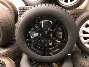 2010-2016 MINI COOPER COUNTRYMAN BRAND NEW BLACK ALLOY WHEEL AND SNOW TIRE PACKAGE 215/60R16