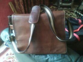 vintage retro LLOYD BAKER MAN LEATHER BAG