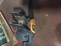 Broken chainsaw