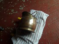 Small brass coal bucket/scuttle.