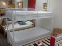 £99.00- 3ft White Capri Bunk Bed Metal Frame only