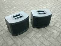 Pair of vintage 1980s ohm mr128 speakers