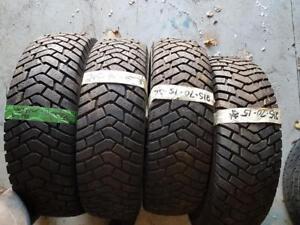 215/70/15 4 pneus hiver goodyears 10-11/32 , presque neuf
