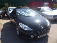 Peugeot 307 cc 16v,1.6 petrol hard top convertible,stunning looking car,low mileage, 54,000 miles