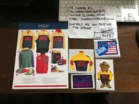 Polo Ralph Lauren Snow Beach Catalogue and Sticker set for sale.