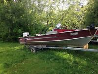 14 ft aluminum with 35 hp Johnson