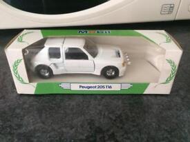 Miniature toy car - Peugeot 205 T16