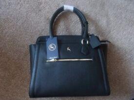 Black Leather Shopper Bag