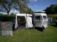 Campervan Drive Away Inflatable Awning with footprint, carpet and extension canopy.