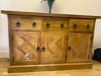 Solid Mango Wood Sideboard & 2 nest of tables