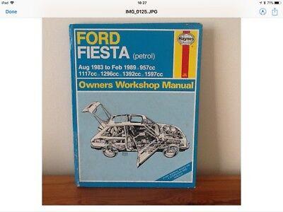 Haynes manual for Ford Fiesta petrol Aug 1983 to Feb 1989 957cc