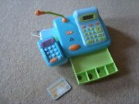 ELC Cash Register - Blue - with Red shopping basket and plastic food £20