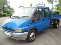 FORD TRANSIT 2006 CREWCAB TIPPER