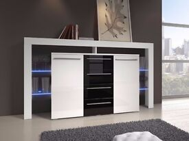 Chest of drawers Bari / Free LED !!! / Sideboard / High Gloss / Commode