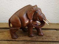 Vintage carved wooden Elephant