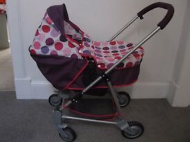 MAMAS AND PAPAS DOLLS TOY PRAM EXCELLENT CONDITION