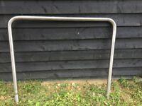 stainless steel cycle hoop, barrier garden rail
