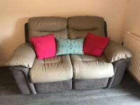 DFS 2 Seater 'Guide' Electric Recliner Sofa - Grey Leather