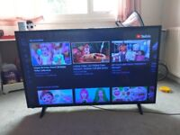 50 inch smart tv with remote