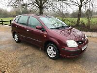 NISSAN ALMERA TINO 2004 1 YEAR MOT FULL SERVICE HISTORY REVERSE CAMERA DRIVES THE BEST