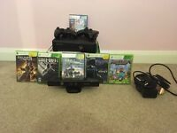 Xbox 360 4GB With Kinect and 7 Games 2 controllers