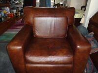 Three Piece Suite Leather Sofa
