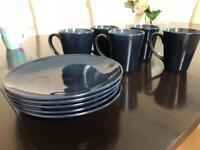 Denby Style 5 Mugs and Side Plates