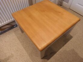 Delightful Large, Handmade, Wooden, Square Coffee Table.