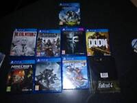 Ps4 Pro, with 2 controllers, games and receipt