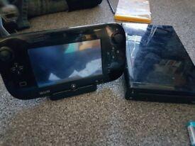 Wii u with super mario bros and mario kart 8 downloaded onto console mario maker lego dimensions etc