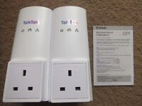 A pair TalkTalk D-Link DHP-326AV Power Line Adaptors/Plugs