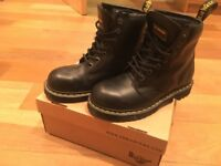 Dr Martens Industrial Steel Toe Boots Size 8