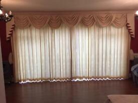 Professionally made bespoke curtains
