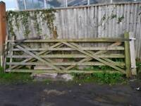 Pair of 12' wooden field gates