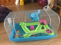 Hamster cage for sale. Medium size.