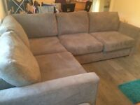 DFS Grey Corner Sofa * 2 year Warranty remaining** - Excellent Condition - Was £1200 brand new