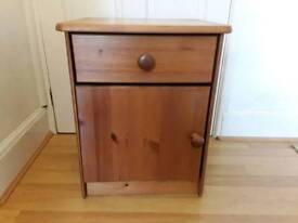 Pine bedside cabinet