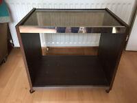 Vintage smok glass top TV/stereo stand