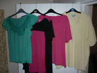 Ladies - size 16/ 16-18 bundle of 4 tops (2 x16 & 2 x16-18)