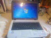 Acer Aspire 4315 Laptop: 80GB :Dual Core 1.73Ghz :2GB RAM :Win 7 : Activated Office 2007