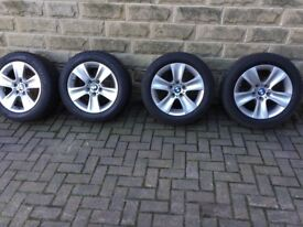 "BMW Genuine 17"" inch Alloy Wheels used on 66 plate 520 m sport car"