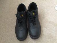 Black steel toecap boots size 9