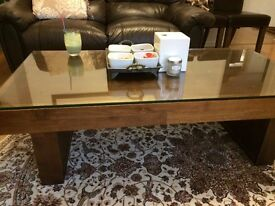 Great condition coffee table! Walnut Wood!