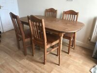 table 4 chairs pine effect