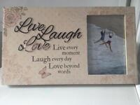 Live laugh love photo frame